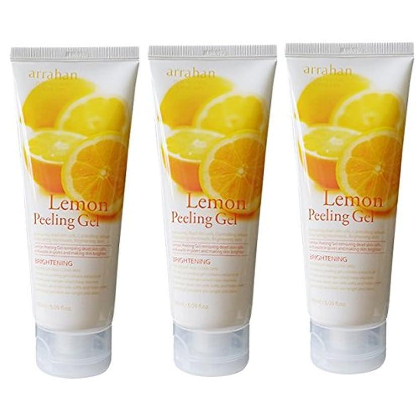 導体秋またはどちらか[韓国コスメARRAHAN]Lemon Whitening Peeling Gel レモンホワイトピルリンジェル180ml X 3個 [並行輸入品]