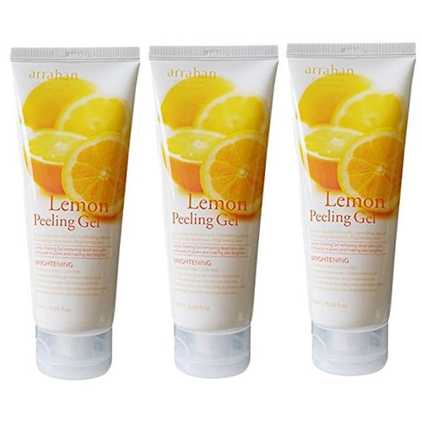 ダメージ同等の知覚的[韓国コスメARRAHAN]Lemon Whitening Peeling Gel レモンホワイトピルリンジェル180ml X 3個 [並行輸入品]