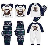 Pijama Familiar de Navidad Invierno Dos Piezas Pantalon y Camiseta Conjunto Mama Papa y Bebe Ropa Igual para Toda la Familia Sleepwear Traje de Domir Pijamas Navideños Familiares 6115BAL