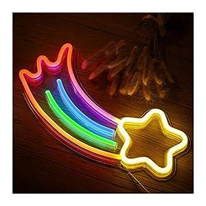 Arbre de Noël arc-en-ciel neon LED arc-en-ciel lampe de lumière pour la décoration de barre arc-en-ciel décor néon lampe mur de mur de noon bulbe tube (Color : Meteor)