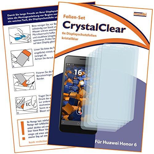 mumbi Schutzfolie kompatibel mit Huawei Honor 6 Folie klar, Displayschutzfolie (6X) - 2