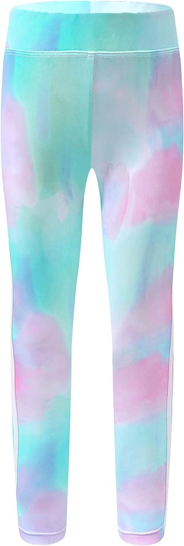 Loodgao Kids Girls Tie Dye Yoga Pants Dance Athletic Leggings Gym Sports Running Activewear Dancewear Bottoms