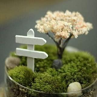 Mccng - Figurines & Miniatures - 5pcs Lot Wood Crafts Sign Board Signboard Miniatures Fairy Garden Gnome Moss Terrarium Decor Bonsai - Figurines Silver Miniatures Metal