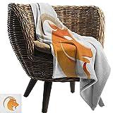 Manta para sofá con diseño de capricornio del zodiaco, estilo monocromático, diseño de línea de capricornio con patrón de estrellas, color blanco y negro, peso ligero, para sala de estar o dormitorio