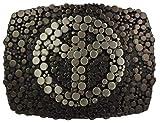 Brazil Lederwaren Gürtelschnalle Peace 4,0 cm | Buckle Wechselschließe Gürtelschließe 40mm Massiv | Für Wechselgürtel bis zu 4cm Breite