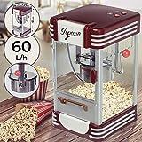 Machine à Popcorn - 60L/h, 200g/10min, avec un Pot en Acier Inoxydable, pour Maïs Soufflé Sucré et Salé, Look Retro Années 50 - Machine à Maïs Soufflé, Popcorn Maker