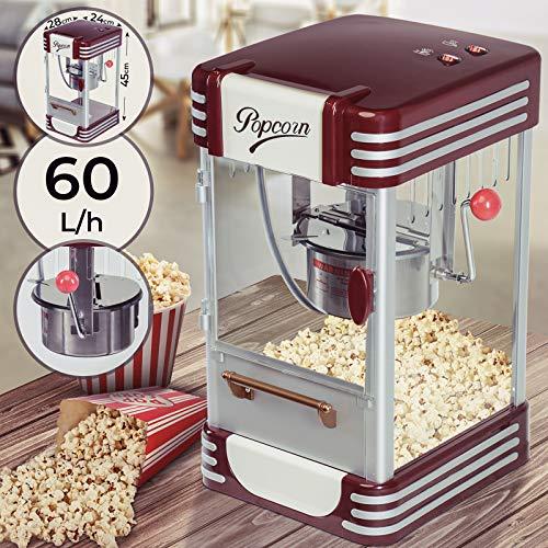 Machine à Popcorn - 60L/h, 200g/10min, avec un Pot en Acier...