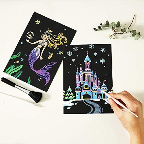 PMSMT 4pc / Lot Erase Black Zeichenpapier Scratch Personalisierte Kindergeschenk Scratch für Postkarte Room Home Decoration Wandaufkleber