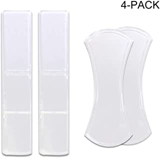 Removeable Anti-Slip Sticky Gel Pads [Foldable and Strips, 4pc, Clear] Wash and Reuse with NO Residue
