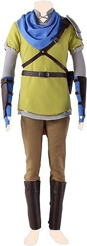 disfrutando de sus compras Hyrule Warriors cosplay cosplay cosplay costume Link Ver.7 amarillo Suits Kid Large  tienda de ventas outlet