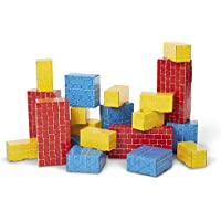 Melissa & Doug 24-Pieces Deluxe Jumbo Cardboard Blocks Toy Set