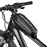 ROCKBROS(ロックブロス)トップチューブバッグ 自転車 サドルバッグ フレームバッグ クロスバイク 撥水加工 簡単装着 ロードバイク 小物入れ フロントバッグ 大容量 軽量 サイクリング(M)