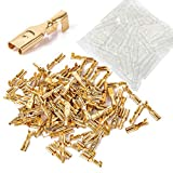ToToT 100pcs 2.8mm Gold Female Spade Crimp Terminal with Insulating Sleeve Self lock Plug Electrical Wire Splice Connectors