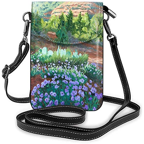 Verbena in Bloom - Cartera para teléfono celular con impresión 3D vívida, soporte para tarjetas de bolsillo de piel sintética duradera con correa para viajes al aire libre