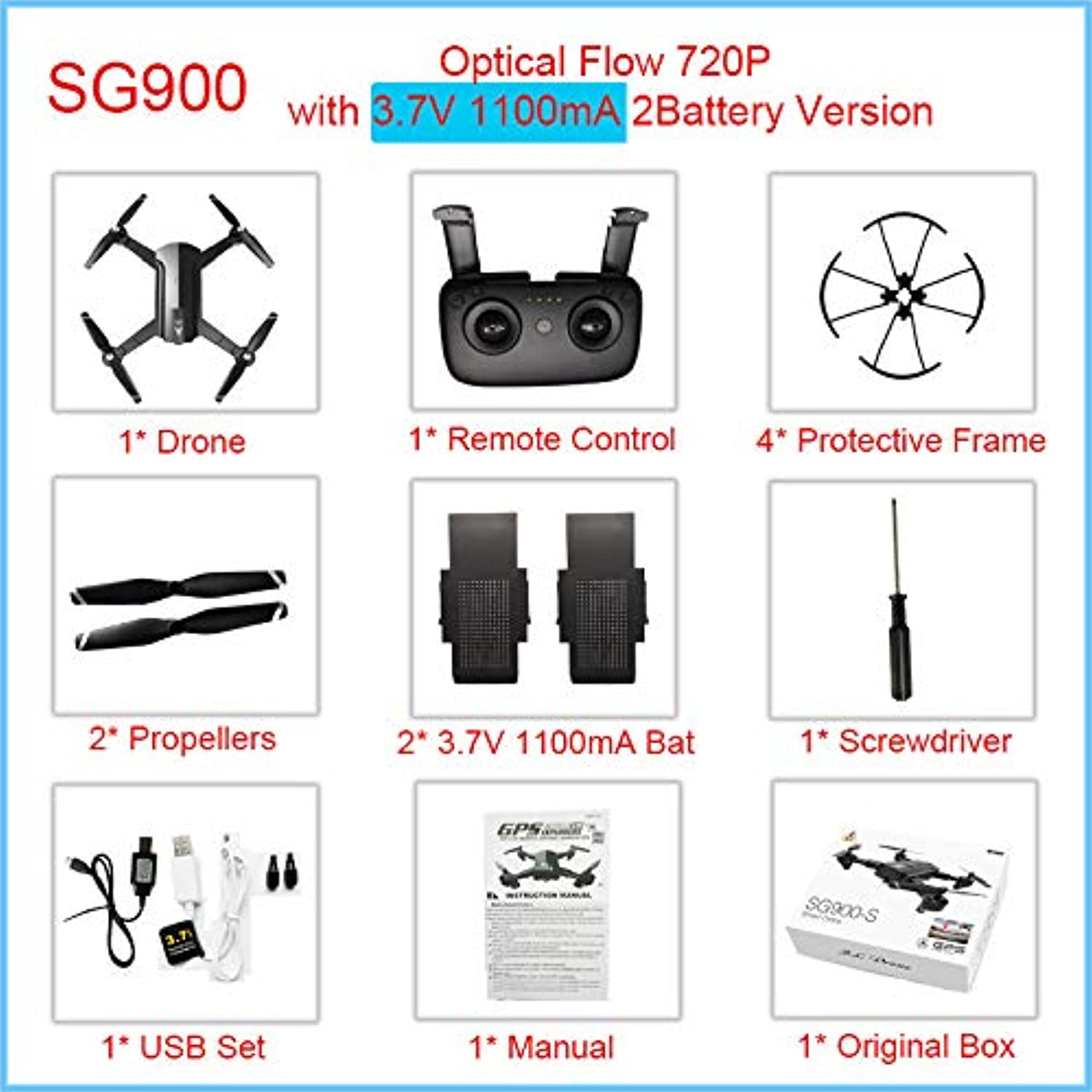 Generic GPS Drone Professional with 1080P 720P WiFi Camera Camera
