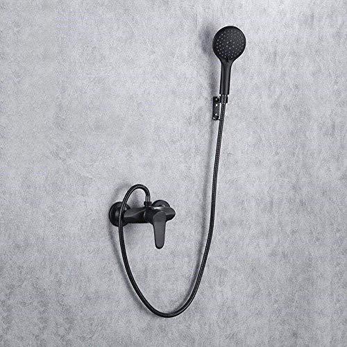 ZJN-JN Juego de ducha grifo de la ducha latón negro baño grifo de la ducha de mano conversión cabeza rociador conjunto de ducha montado en la pared baño mezclador grifo baño baño