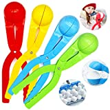 EasyLive Snowball Maker 4 Pack Snow Toys for Kids Snowball Maker Tool with Handle for Snow Ball Fights Winter Outdoor Toys Snow Ball Clip Snow Games for Kids