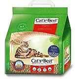 Cats Best at's Best Original Aglomerante 10L (4,3 kg). Arena Biodegradable hasta 7 Semanas de Uso. Lecho para Gatos de Fibra Vegetal Aglutinable, 4