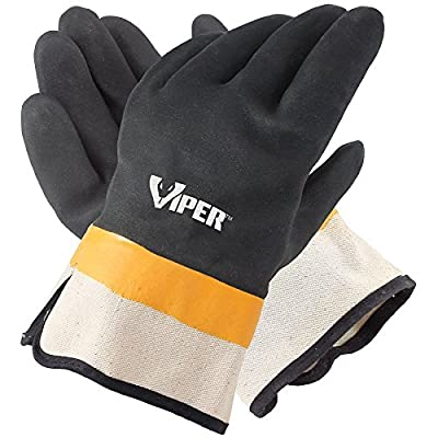 Galeton Viper Double Coated PVC Gloves, Safety Cuff (Pack of 12)