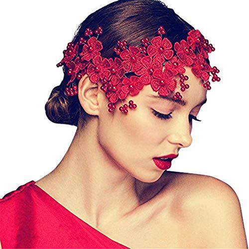 Remeehi, Braut-Haar-Accessoires, handgefertigt, Hochzeits-Haarschmuck, Party, Kristall, Brautschmuck, Haarkamm mit Perle