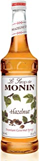 Monin - Hazelnut Syrup, Nutty Taste of Caramelized Hazelnut, Natural Flavors, Great for Mochas, Lattes, Smoothies, Shakes, and Cocktails, Vegan, Non-GMO, Gluten-Free (750 Milliliters)