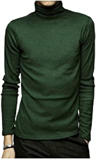 Winwinyou Men High Neck Warm Winter Splice Solid Colored Long Sleeve Pullover Sweater