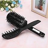 Juego de peines de peluquería Juego de peines planos portátiles 10 piezas para peinar el cabello para hombres y mujeres para uso en el hogar para el salón(Comb flat rolling comb bag set)