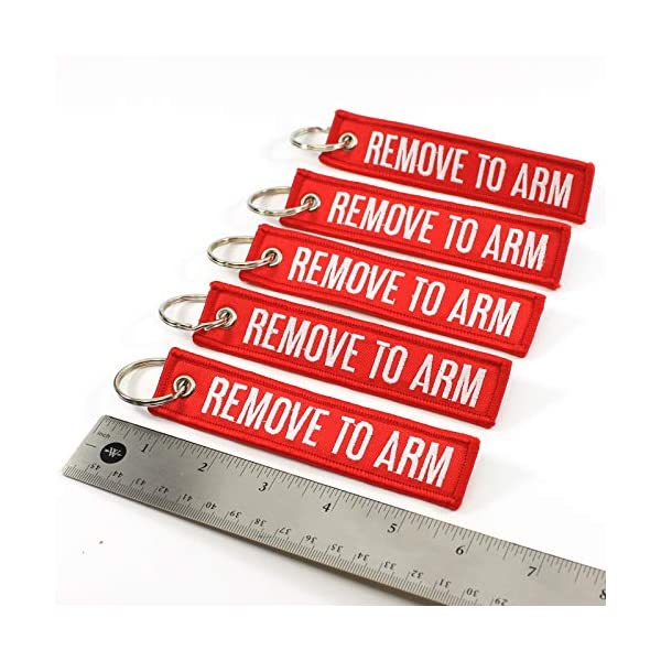 Rotary13B1 Remove to ARM – Key Chains – Red/White – 5pcs