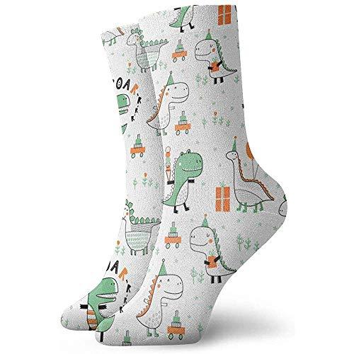 Be-ryl Niedliche Dinosaurier für Typografie-Plakat, Karte, Aufkleber, Broschüre, Flieger, Seite, Fahnen-Entwurfs-athletische zufällige laufende Socken