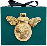 Bee Door Knocker in Gift Box - Gold Polished Brass Bumblebee Door Knocker | Handmade Bee Gifts | Handmade Solid Brass Bee Door Knocker | Door Knockers for Front Door |