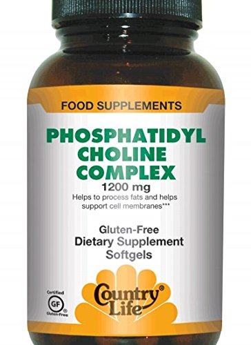 Country Life - Phosphatidyl Choline Complex, 1200 mg - 100 Softgels