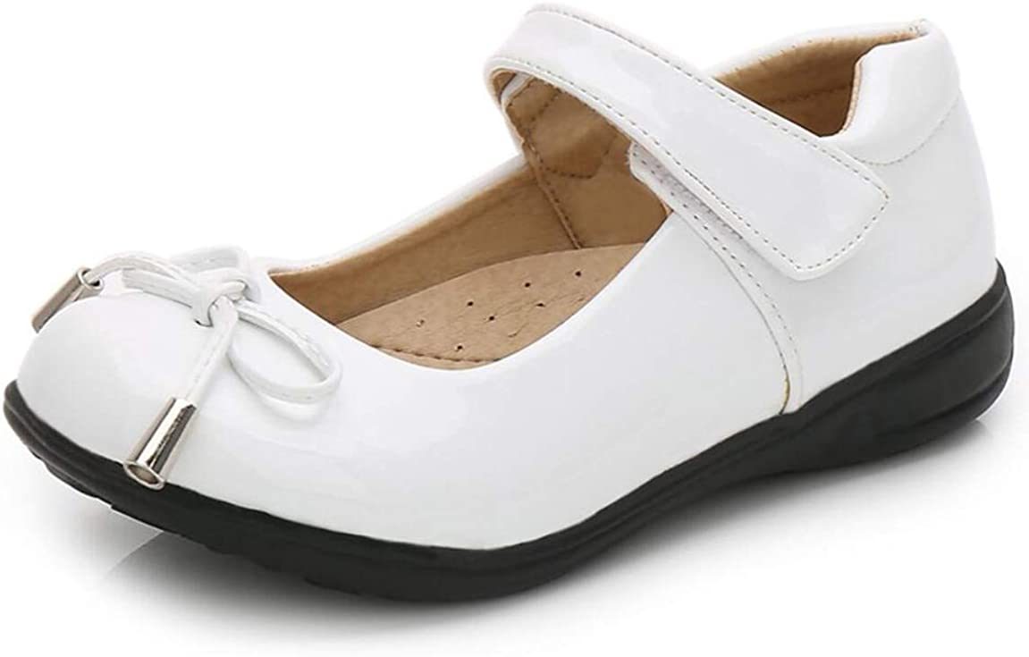 Je-Gou Kid's Girl's Patent Leather Mary Jane Flat School Uniform Shoes(Toddler/Little Kid)