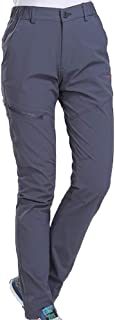 Cool UV Protection Waterproof Pants Hiking Pants for Outdoor Sport Women's Grey Quick Dry Pants (Size : XXL)