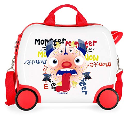 Movom Happy Time Maleta Infantil Multicolor 41x34x20 cms Rígida ABS Cierre combinación...