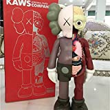 "8"" 20cm Prototype KAWS OriginalFake Companion Model Art Toys Action Figure Collectible Model Toy (Brown Dissected)"