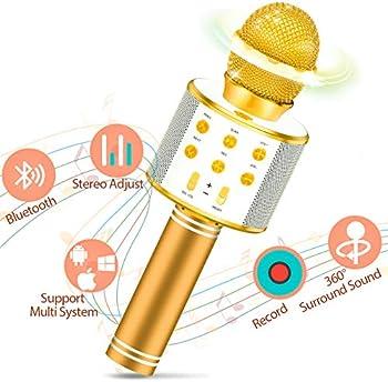 LET'S GO! Wireless Portable Handheld Bluetooth Karaoke Microphone