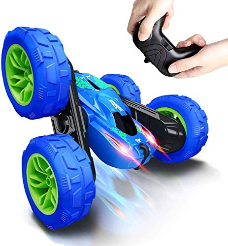Remote Control car RC Stunt Car for Kids, 360°Flips Double Sided Rotating 4WD 2.4Ghz Remote Control Car with Sharp Dual-Color Headlights -Best Gift for 2-12 Years Old Kids