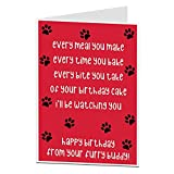 Funny Birthday Card From The Dog For The Owner Lover Quirky Pet Theme Perfect For Men Women Mum Dad & Husband Wife
