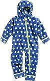 Playshoes Baby-Unisex Fleeceoverall, Fleeceanzug Punkte, Oeko Tex Standard 100 Schneeanzug, Blau (Marine 11), 80