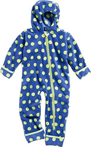 Playshoes Baby-Unisex Fleeceoverall, Fleeceanzug Punkte, Oeko Tex Standard 100 Schneeanzug, Blau (Marine 11), 68