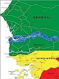Poster 60 x 80 cm: Gambia und Senegal von Editors Choice -