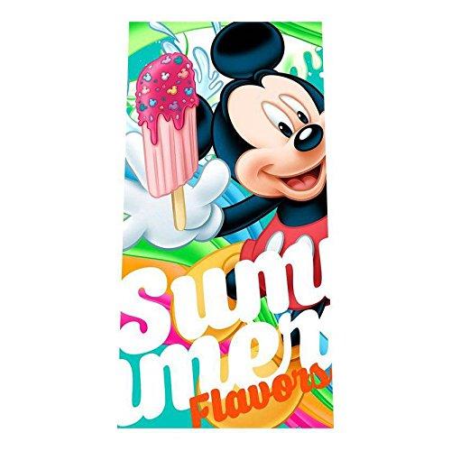 Disney  - Toalla de Playa Infantil Mickey Flavors