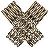 XYXXBB Herramientas M35 Conjunto de Broca de Cobalto, Juego de Taladro 1.0-10 mm, para perforación en Acero endurecido, Hierro Fundido y Acero Inoxidable (Hole Diameter : 2.5mm 10pc)