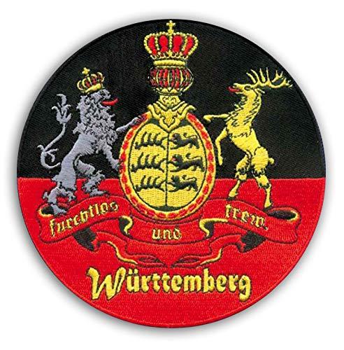 Königreich Württemberg Wappen Aufnäher/Aufbügler, furchtlos und treu