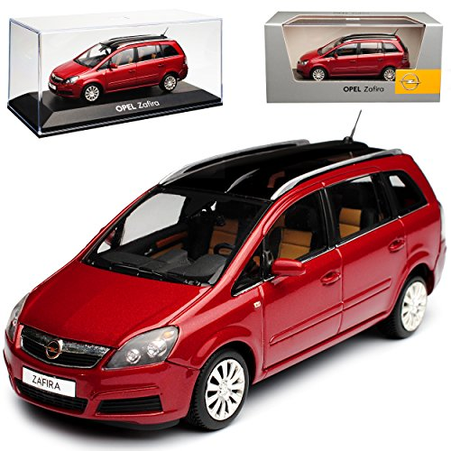 Minichamps Opel Zafira B Dunke Rot Van 2. Generation 2005-2014 1/43 Modell Auto