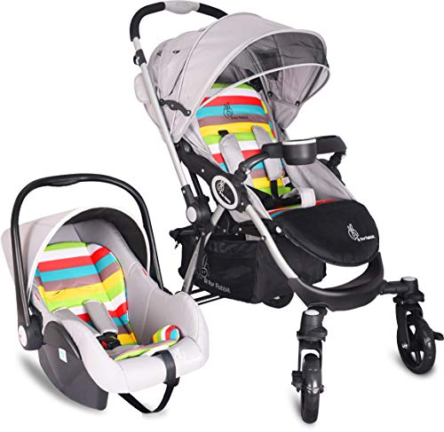 R for Rabbit Travel System - Chocolate Ride - Baby Stroller/Pram + Infant Car seat for Baby/Kids