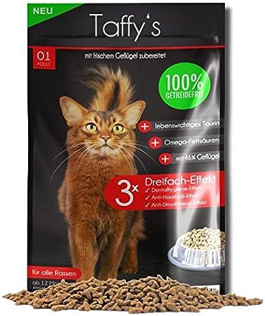 Taffy´s - Comida para gatos - Pienso libre de cereales - Ave: Amazon.es: Productos para mascotas
