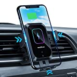 Enomol Wireless Car Charger Auto-Clamping Phone Mount,15W Qi Fast Charging Car Charger Air Vent Phone Holder Compatible with iPhone 12 Pro Max/11 Pro Max/Xs MAX/X/8,Samsung S20/S10/S10+/S9/S9+/S8