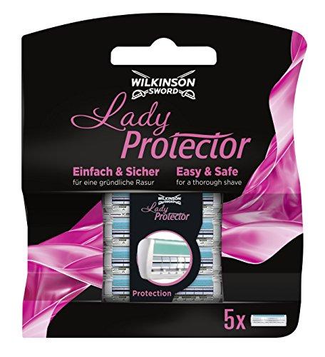 Wilkinson Sword Lady Protector Rasierklingen für Damen Rasierer, 5 St