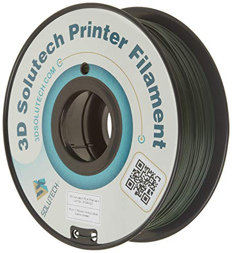 3D Solutech Camo Green 3D Printer PLA Filament 1.75MM Filament, Dimensional Accuracy +/- 0.03 mm, 2.2 LBS (1.0KG)